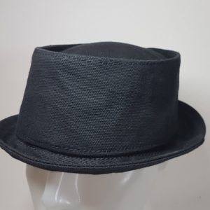 PORK PIE HAT DRY OILSKIN COTTON CANVAS