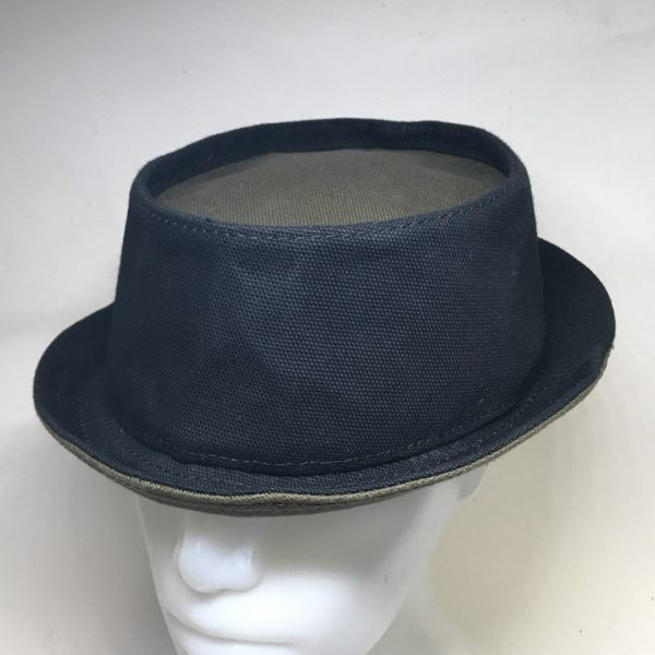 Pork Pie Hat Black Khaki Dry Oilskin L XL
