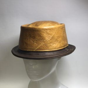 Jill Corbett pork pie hat whisky leather Handmade in UK  S//M//L//XL//XXL//XXXL