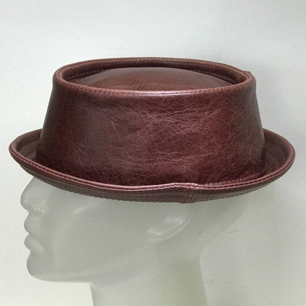 Leather Pork Pie Hat Rioja
