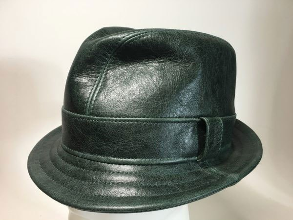 Leather Snatch Fedora Green