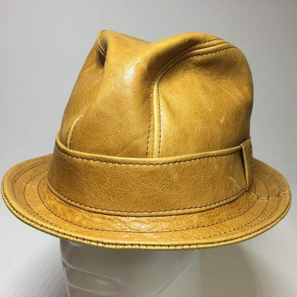 Leather Snatch Fedora Whiskey