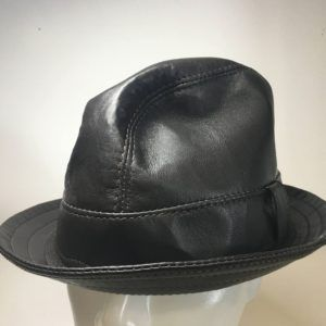 Nappa Leather Snatch Fedora Dark Brown: Made To Order