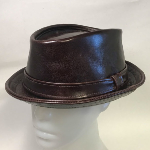 Made To Order Pinch Trilby With Band - Chocolate Brown