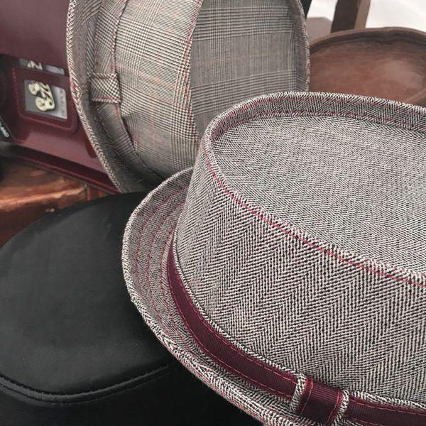 Custom Tweed Pork Pie Hat